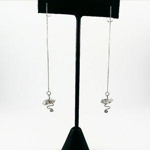 Herkimer Diamond Thread Earrings